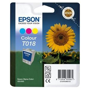 Epson T018 Ink Cartridge - Cyan, Magenta, Yellow