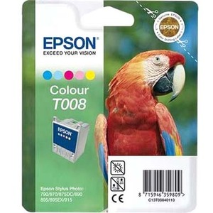 Epson T008 Ink Cartridge - Cyan, Magenta, Yellow, Light Cyan, Light Magenta