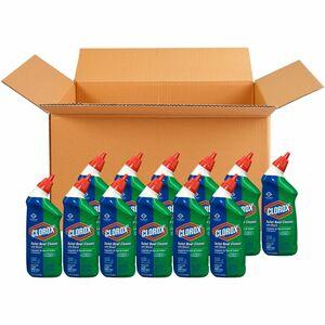 Clorox Toilet Bowl Cleaner with Bleach - Gel - 0.19 gal (24 fl oz) - 12 / Carton