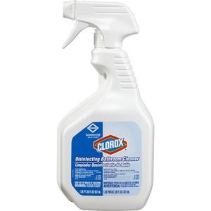 Clorox Disinfecting Bathroom Cleaner - Spray - 0.23 gal (30 fl oz) - Bottle - 1 Each - White