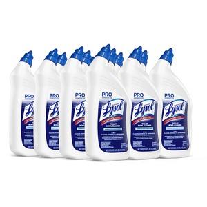 Professional Lysol Power Toilet Bowl Cleaner - Liquid - 0.25 gal (32 fl oz) - Wintergreen Scent - 12 / Carton - Blue, Green