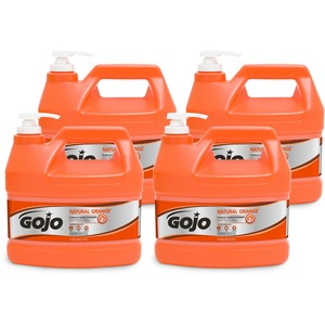 Gojo Natural Orange Pumice Heavy Duty Hand Cleaner - Citrus Scent - 1 gal (3.8 L) - Hand - White - 4 / Carton
