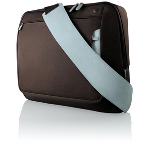 Belkin F8N051EARL Notebook Case - Fabric, Polyester - Chocolate, Tourmaline-17inch