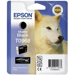 Epson UltraChrome T0968 Ink Cartridge - Black