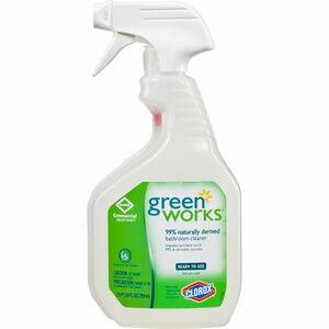 Green Works Bathroom Cleaner - Spray - 0.19 gal (24 fl oz) - 1 Each - White