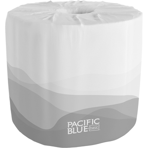 """Georgia-Pacific Envision 1-Ply Bath Tissue Rolls - 1 Ply - 4.05"""" x 4"""" - 550 Sheets/Roll - White - Soft, Durable, Absorbent - For School, Office Building - 40 / Carton"""