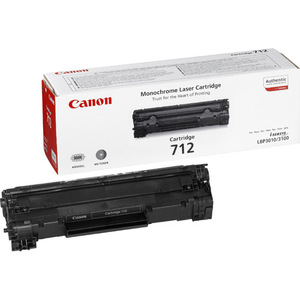 Canon 712 Toner Cartridge - Black - Laser - 1500 Page - 1 Pack - OEM