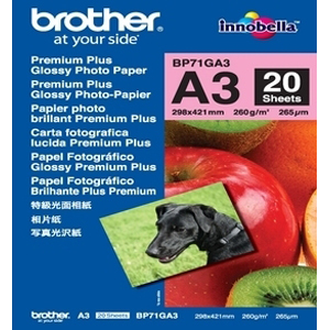 Brother Z-Perform BP71GA3 Photo Paper - A3 - 297 mm x 420 mm - Glossy - 20 x Sheet