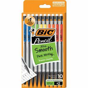 BIC Top Advance Mechanical Pencils - #2 Lead - 0.7 mm Lead Diameter - Assorted Barrel - 10 / Pack