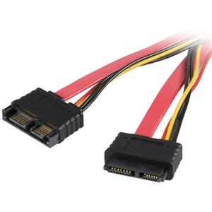 StarTech.com 20in Slimline SATA Extension Cable - 1 x Male SATA - 1 x Female SATA - Red