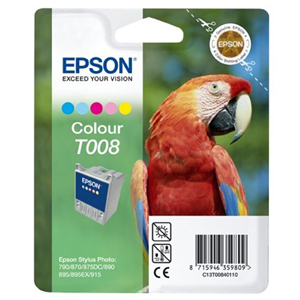 Epson T008 Ink Cartridge - Colour