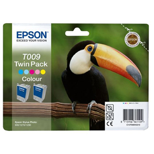 Epson T009 Colour Ink Cartridge - x2 Pack