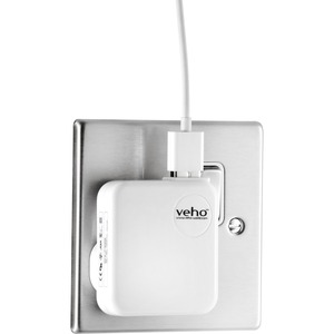 Veho VAA-003-WHT Mains USB Charger for iPod/ iPhone/ iPad/ USB Charged Devices - White