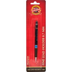 Koh-I-Noor Mephisto Mechanical Pencil - 7 mm Lead Diameter - Black Plastic, Silver Barrel - 1 Each