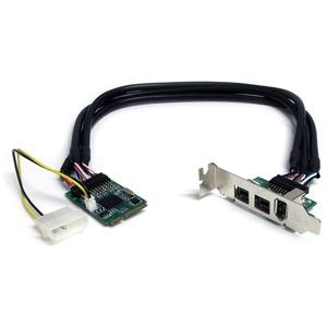 StarTech.com 3 Port 2b 1a 1394 Mini PCI Express FireWire Card Adapter - 1 x 6-pin Female IEEE 1394a