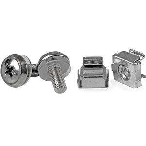 StarTech.com 50 Pkg M5 Mounting Screws and Cage Nuts for Server Rack Cabinet - Rack Nut