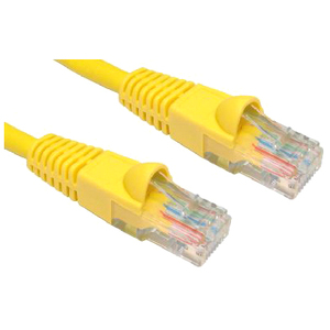 Cables Direct B5LZ-205Y 5 m Category 5e Network Cable for Network Device - First End: 1 x RJ-45 Male Network - Second End: 1 x RJ-45 Male Network - Patch Cable - Yel