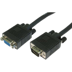 Cables Direct 1 x HD-15 Male VGA - 1 x HD-15 Female VGA - Extension Cable - Black