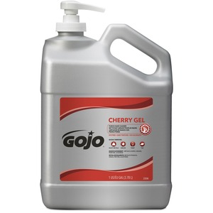 Gojo Gallon Pump Cherry Gel Pumice Hand Cleaner - Cherry Scent - 1 gal (3.8 L) - Pump Bottle Dispenser - Dirt Remover, Grease Remover, Oil Remover - Hand, Skin - Red - Heavy D