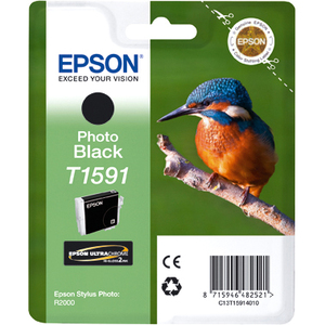 Epson UltraChrome Hi-Gloss2 T1591 Ink Cartridge - Photo Black