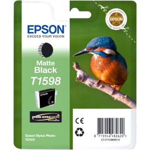 Epson UltraChrome Hi-Gloss2 T1598 Ink Cartridge - Matte Black