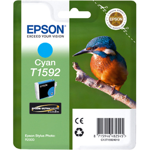 Epson UltraChrome Hi-Gloss2 T1592 Ink Cartridge - Cyan