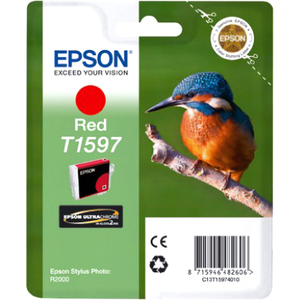 Epson UltraChrome Hi-Gloss2 T1597 Ink Cartridge - Red