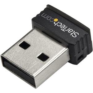 StarTech.com USB 150Mbps Mini Wireless N Network Adapter - 802.11n/g 1T1R - 150 Mbps - External