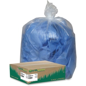 """Webster Coreless Heavy-duty Can Liners - Extra Large Size - 60 gal - 38"""" Width x 58"""" Length - 1.50 mil (38 Micron) Thickness - Clear - 100/Carton - Can"""