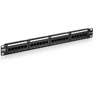 TRENDnet TC-P24C5E 24 Ports Network Patch Panel - 24 x RJ-45 - 24 x RJ-11
