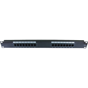 Cables Direct 16 Ports Network Patch Panel - 16 x RJ-11 - 1U High - Rack-mountable