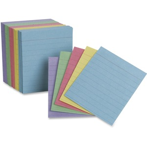 """TOPS Oxford Color Mini Index Cards - 200 x Divider(s) - 2.5"""" Divider Width x 3"""" Divider Length - White Divider - 200 / Pack"""