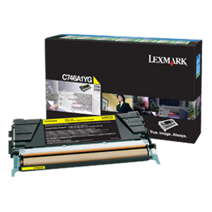 Lexmark Yellow C746A1YG Toner Cartridge