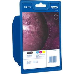 Brother LC1220RBWBP Ink Cartridge - Cyan, Magenta, Yellow