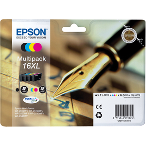 Epson DURABrite Ultra 16XL Ink Cartridge - Inkjet - 500 Page Black, 450 Page Cyan, 450 Page Magenta, 450 Page Yellow - 4 / Pack