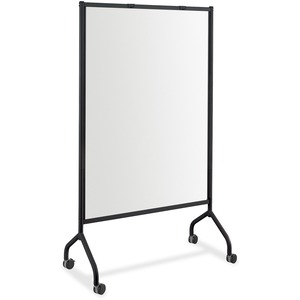 Safco Impromptu Magnetic Whiteboard Screens - White Surface - Black Steel Frame - Rectangle - Assembly Required - 1 Each