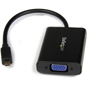 StarTech.com Micro HDMI to VGA Adapter Converter, 1920x1200 - 1x HDMI Micro Type D Male Digital Audio/Video