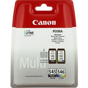 Canon PG-545/CL-546 Ink Cartridge - Cyan, Magenta, Yellow, Black