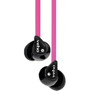 Veho Z-1 Wired Stereo Earphone - Earbud - In-ear - Pink