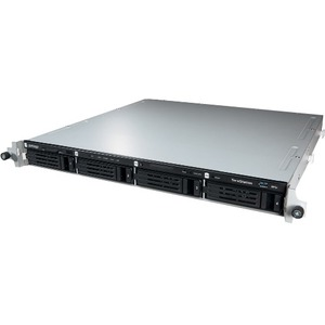 Buffalo TeraStation TS4400R 4 x Total Bays NAS Server - 1U - Rack-mountable - Intel Atom D2701 Dual-core 2 Core 2.13 GHz - 8 TB HDD - 2 GB RAM DDR3 SDRAM - Serial
