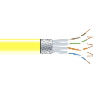 350-MHz Stranded Bulk Cable 1000-feet Yellow - Category 5e for Network Device Bare Wire 304.8-m Black Box GigaBase 350 CAT5e Yellow 1000 ft Bare Wire RoHS Compliance