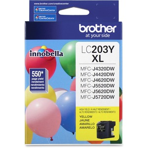 Brother Genuine Innobella LC203Y High Yield Yellow Ink Cartridge