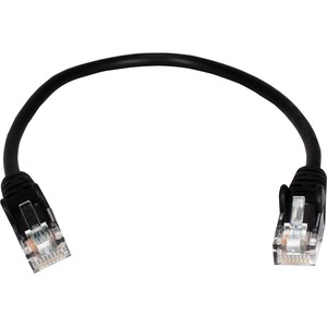 Pack of 50 pcs Slim-Net 28 AWG Patch Cable Black Box C6PC28-RD-01