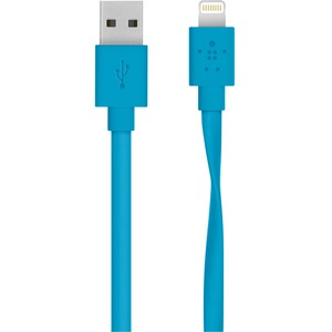 Belkin Lightning/USB Data Transfer Cable for iPad, iPhone, iPad Air, iPad mini, iPod - 1.22 m
