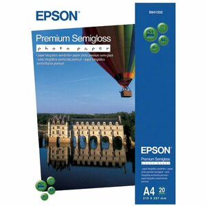Epson Premium C13S041332 Photo Paper - A4 - 210 mm x 297 mm - Semi Gloss - 20 x Sheet