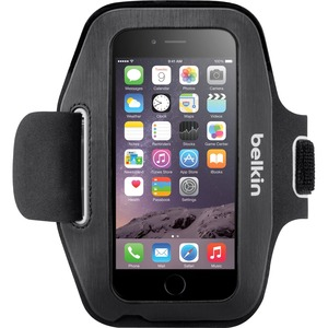 Belkin Sport-Fit Carrying Case Armband for iPhone - Blacktop, Overcast - Neoprene