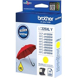 Brother LC-225XLY Ink Cartridge - Yellow