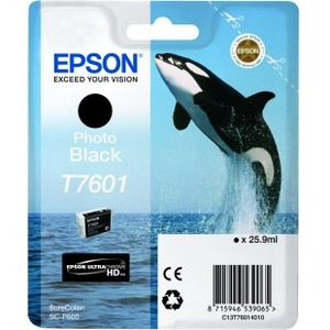 Epson UltraChrome T7601 Ink Cartridge - Photo Black