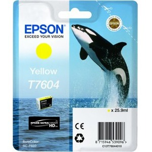 Epson UltraChrome T7604 Ink Cartridge - Yellow