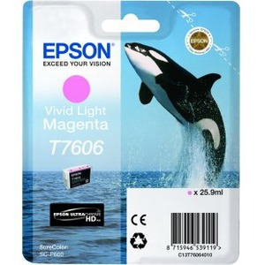 Epson UltraChrome T7606 Ink Cartridge - Vivid Light Magenta